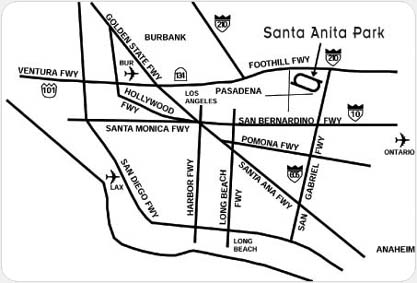 Map of Los Angeles Area Freeways