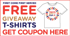 Tokyo City Cup T-shirts Give Away Coupon